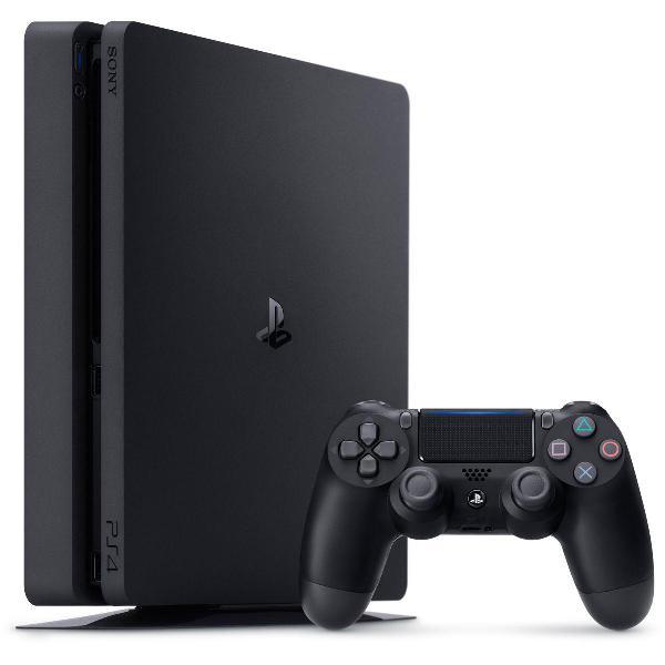 Sony playstation 4 slim 500gb console + joystick + fifa 18