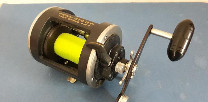 Carrete pescar penn 310 gti, high speed 4 3 1, usa (diametro