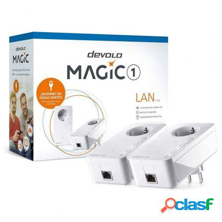 Adaptador powerline devolo magic 1 1200mbps/ alcance 400m/ pack de 2
