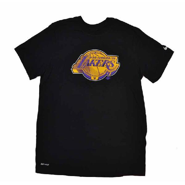 Camiseta los angeles lakers earned edition logo black