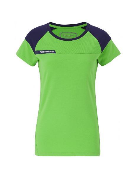 Camiseta tecnifibre f1 stretch green lady junior