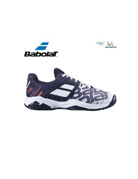 Zapatilla babolat propulse fury clay men white/black |