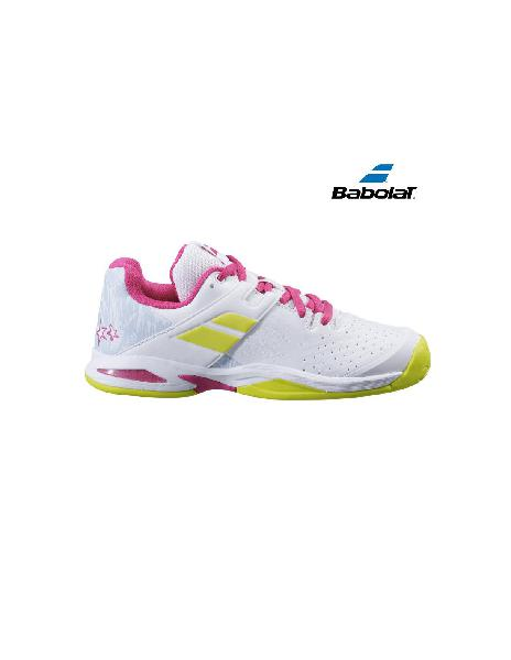 Zapatilla de tenis junior babolat propulse ac white/red rose