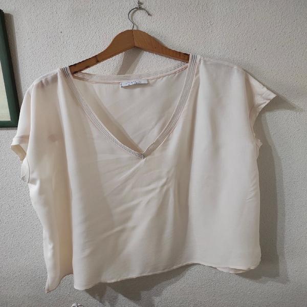 Camiseta color crema de violeta, talla xl