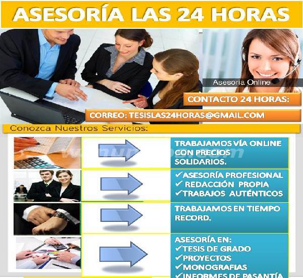 Elaboración y asesoria de tesis las 24 horas, trabajos de