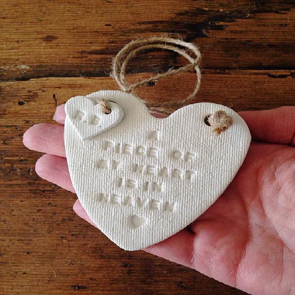 Corazón conmemorativo / recuerdo / un pedazo de mi corazón