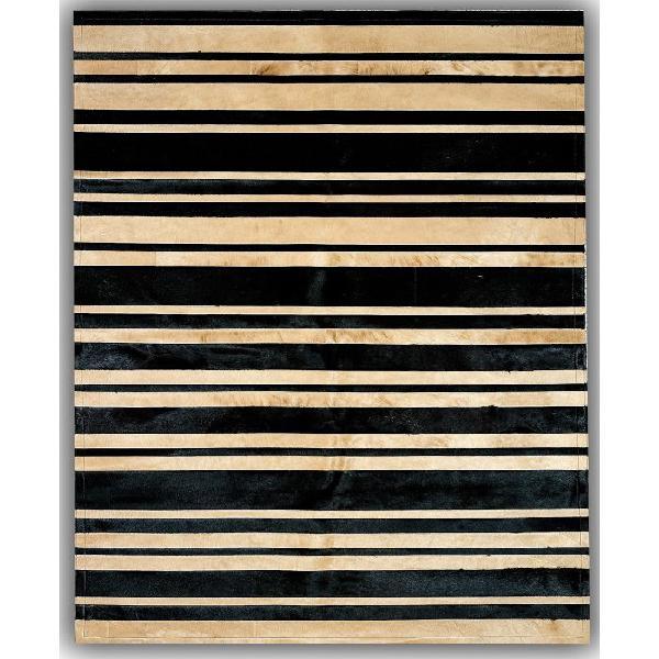Beige stripes. alfombra de piel.