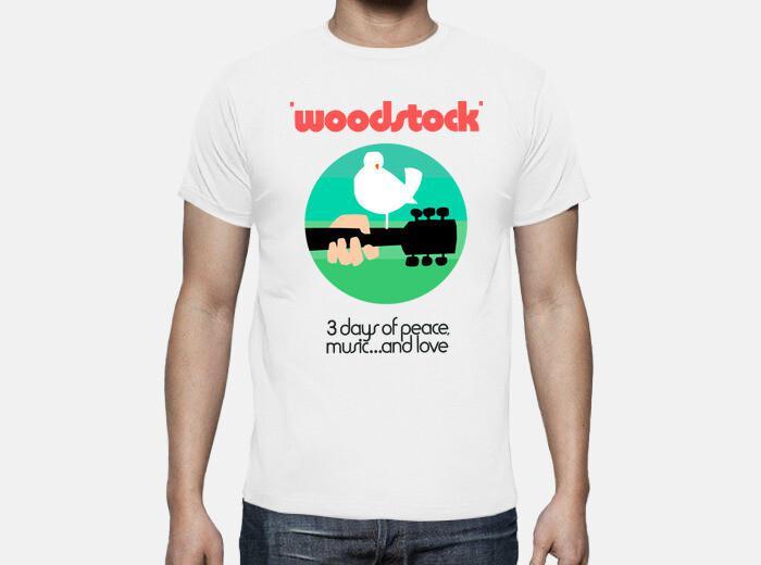 Camiseta woodstock 1969 green
