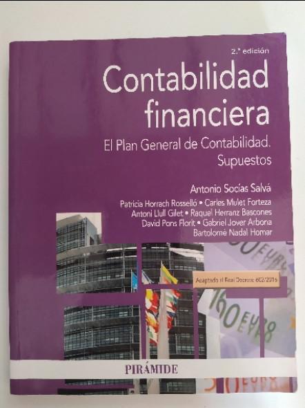 Contabilidad financiera, el plan general de la contabilidad.