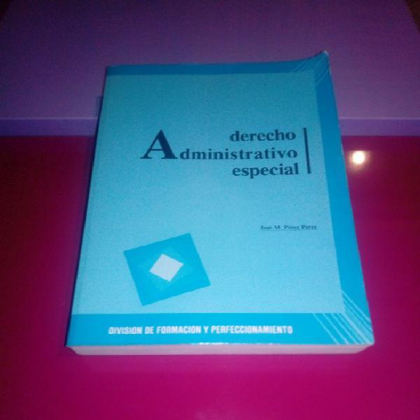 Derecho administrativo especial. división de formación y