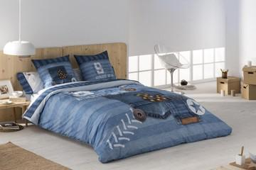 Funda nórdica jeans 100% algodón (2 piezas)