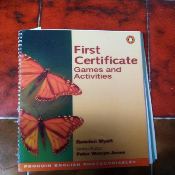 First certificate games and activities