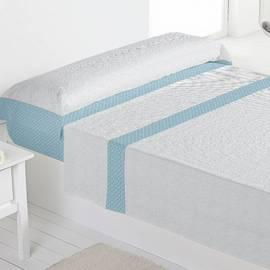 Juego sábanas 100% algodón ares azul