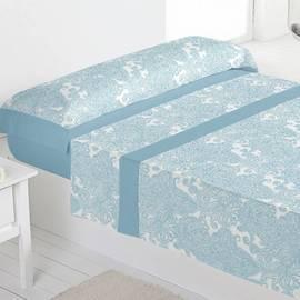 Juego sábanas 100% algodón heras azul
