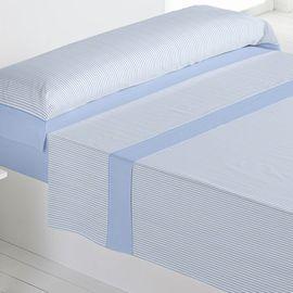 Juego sábanas 100% algodón carla azul