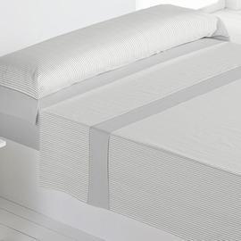 Juego sábanas 100% algodón carla gris