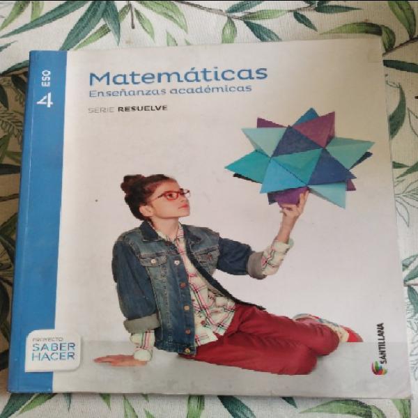 Matemárticas 4eso santillana