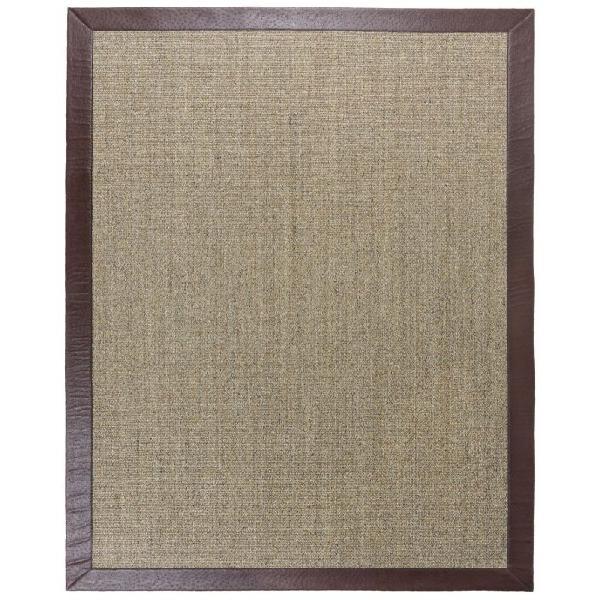Sisal ibiza. alfombra de 170x240 cm borde piel sintética
