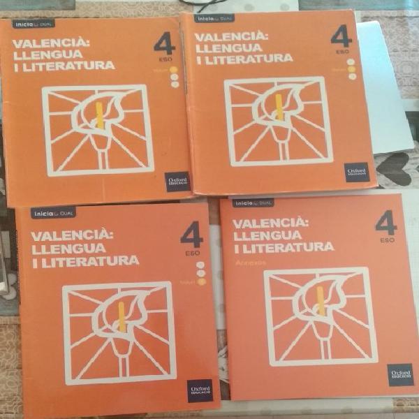 Valencià: llengua i literatura 4 eso