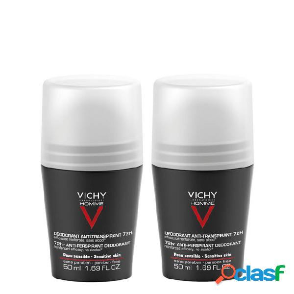 Vichy homme duo pack antitranspirante roll-on 72h control extreme 2x 50ml