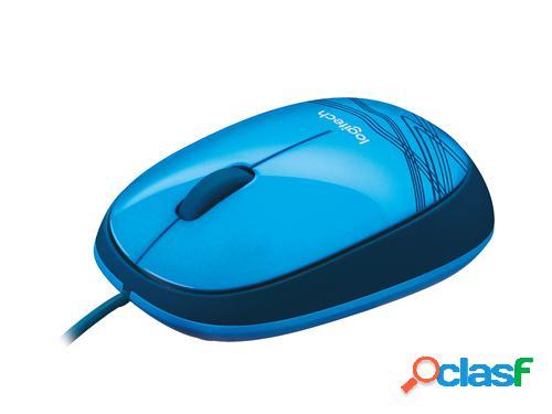 Logitech ratón m105 usb óptico ambidextro azul ratón
