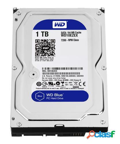 Western digital blue unidad de disco duro 1000gb serial ata iii disco duro interno