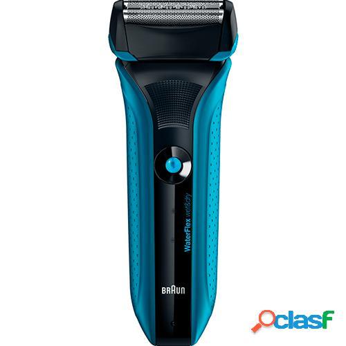 Braun afeitadora waterflex blue