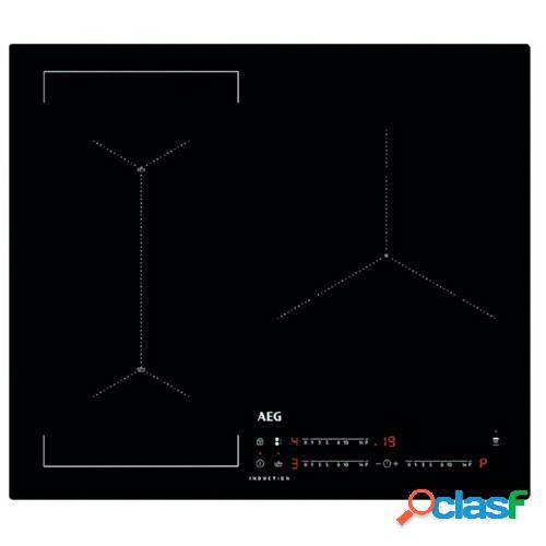 Aeg vitrocerámica inducción iae63421cb 3 zonas 60 cm negro