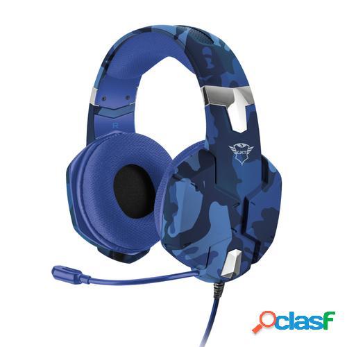 Trust gxt 322b carus auriculares diadema negro, azul