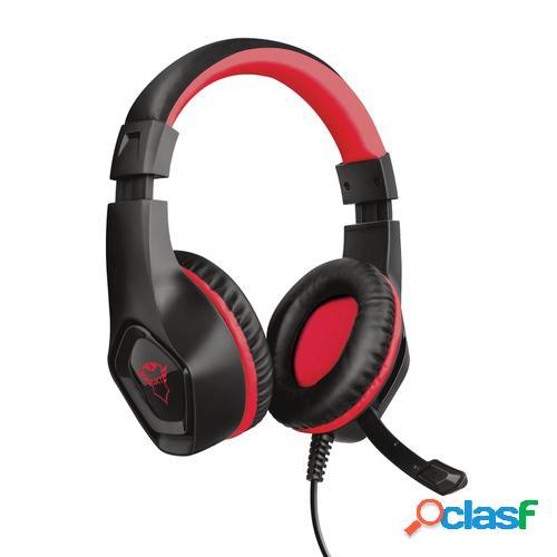 Trust gxt 404r rana auriculares diadema negro, rojo