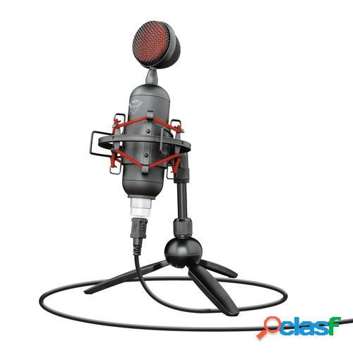 Trust gxt 244 buzz micrófono para pc negro, rojo
