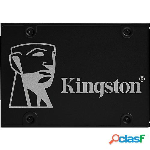"Disco sólido kingston skc600 1tb - sata iii - 2.5""/6.35cm - lectura 550mb/s - escritura 520mb/s - autocifrado basado en hardware"