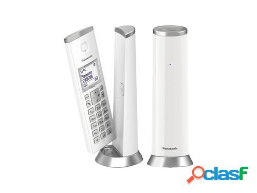 Panasonic kx-tgk212sp teléfono dect plata, blanco identificador de llamadas