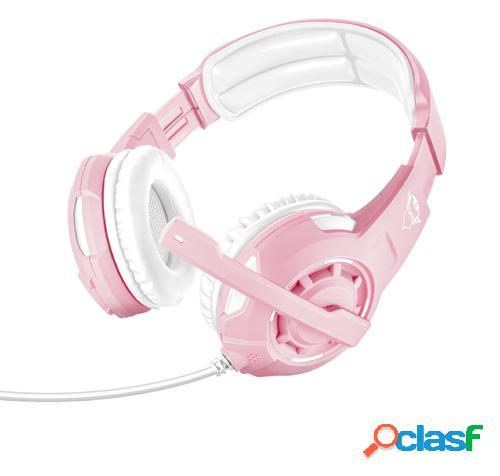 Trust gxt 310p radius auriculares diadema rosa, blanco