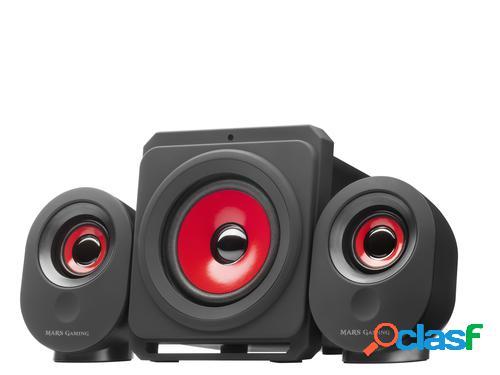 Mars gaming msx sistema de audio para el hogar negro, rojo 35 w
