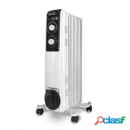 Orbegozo RF-1000 calefactor eléctrico Radiador de aceite eléctrico Interior Negro, Blanco 1000 W