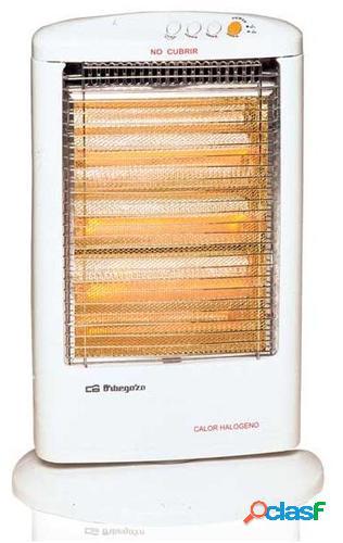 Orbegozo BP 0303 Calefactor eléctrico halógeno Blanco 1200 W