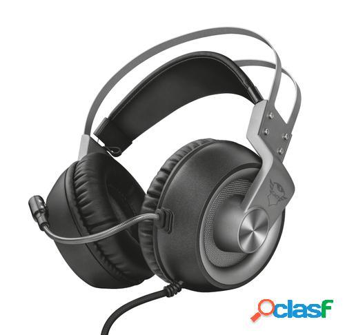 Trust gxt 430 ironn auriculares diadema negro