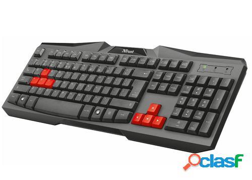 Trust Ziva ES teclado USB QWERTY Español Negro, Rojo