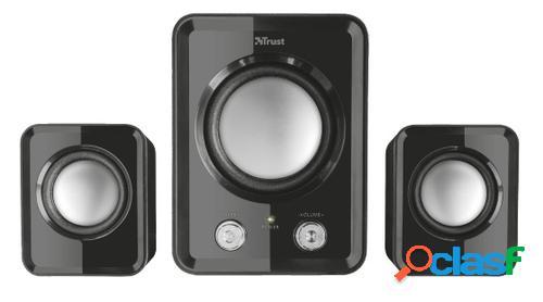 Trust ziva compact 2.1 speaker set conjunto de altavoces 12 w negro