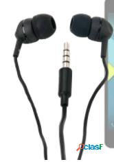Bq g008125 negro auriculares in-ear con micrófono cable conector jack 3.5mm