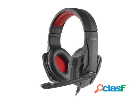 Mars gaming mh020, cascos gaming con microfóno para pc/ps4/xbox one/switch/móvil