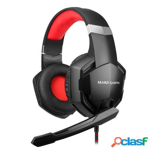 Mars gaming mhx auricular y casco auriculares diadema negro, rojo