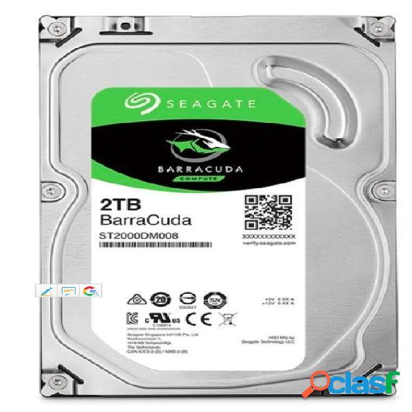 """Seagate barracuda st2000dm008 disco duro interno 3.5"""" 2000 gb serial ata iii, unidad de disco duro"""