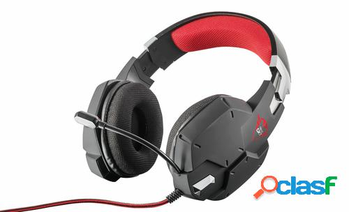Trust gxt 322 auriculares diadema negro, rojo