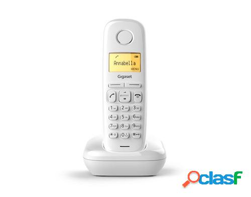 Gigaset a170 teléfono dect blanco identificador de llamadas