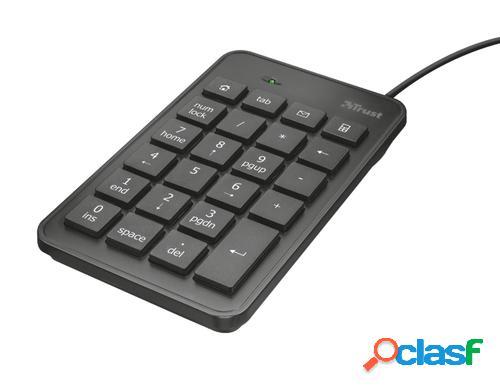 Trust 22221 teclado numérico usb portátil/pc negro