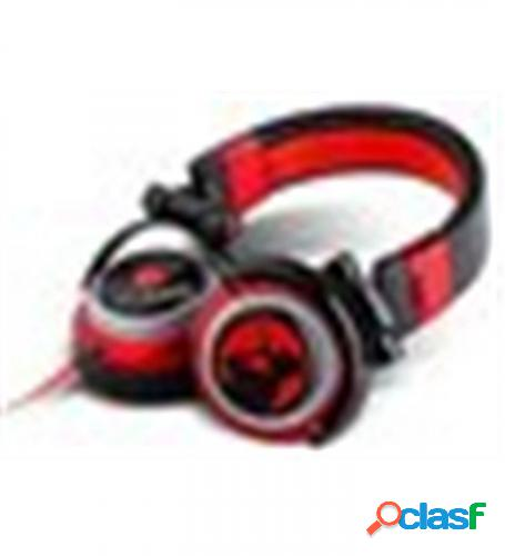 Auricularesmicro energy sistem dj700 negro/rojo