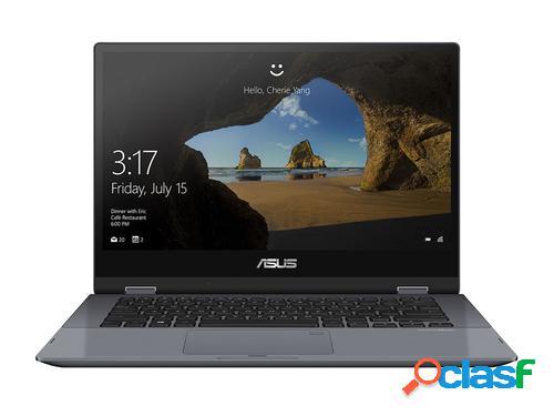 """Asus vivobook flip tp412fa-ec641t - ordenador portátil de 14"""" full hd (intel core i3-10110u, 8gb ram, 256gb ssd, intel uhd graphics, windows 10 home) gris estrella-teclado qwerty español"""