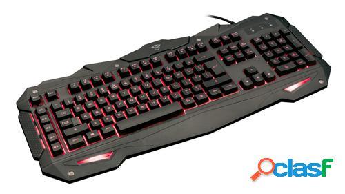 Trust gxt 840 myra teclado usb qwerty español negro